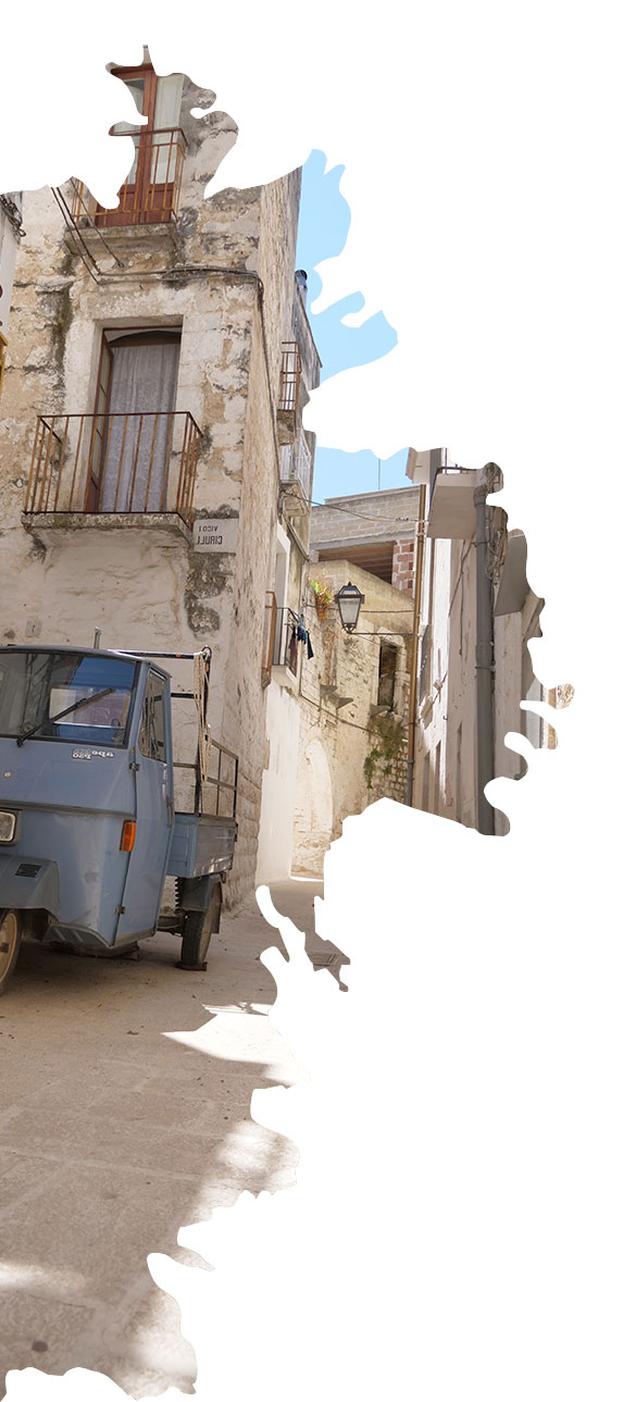 scorcio del centro storico di rutigliano